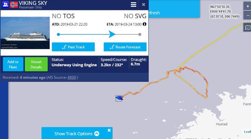 """AIS Marine Traffic """"VIKING SKY"""""""