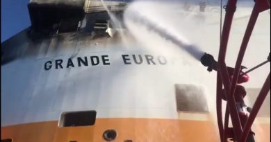 "Пожар на кораба ""Grande Europa"""