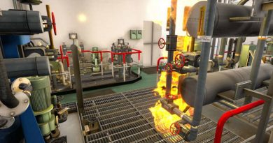 K-Sim Safety Пожар в машинно отделение