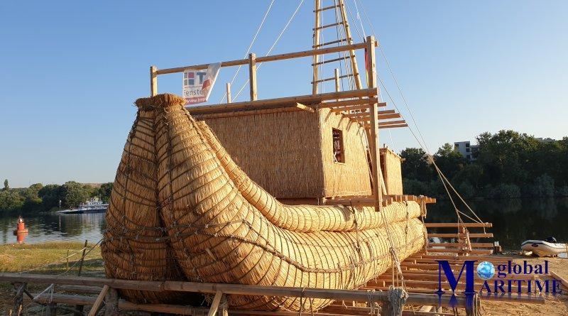 Строеж на тръстиковата лодка ABORA IV. Дата: 27.07.2019