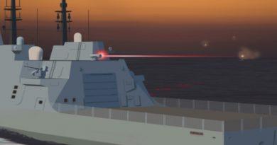 Компютърно изображение, илюстриращо използването на Оръжие с насочена енергия