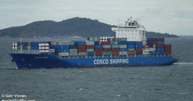Пожар на Cosco Pacific