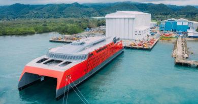 """""""Austal"""" спусна на вода 109 метров високоскоростен катамаран"""