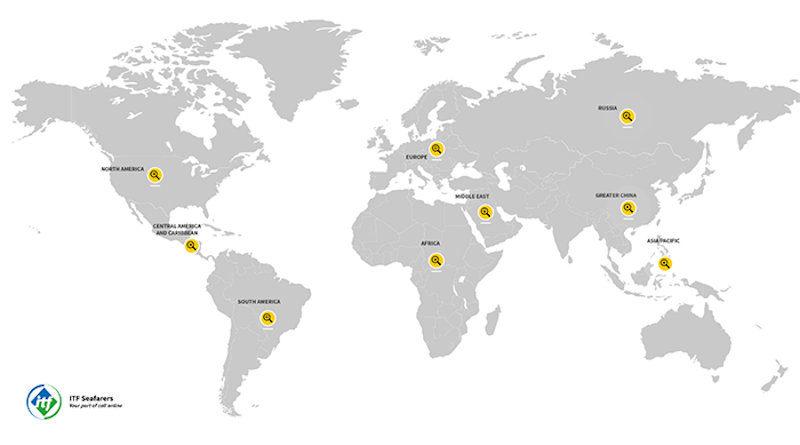 Карта на ITF показва ограниченията за моряците поради COVID-19