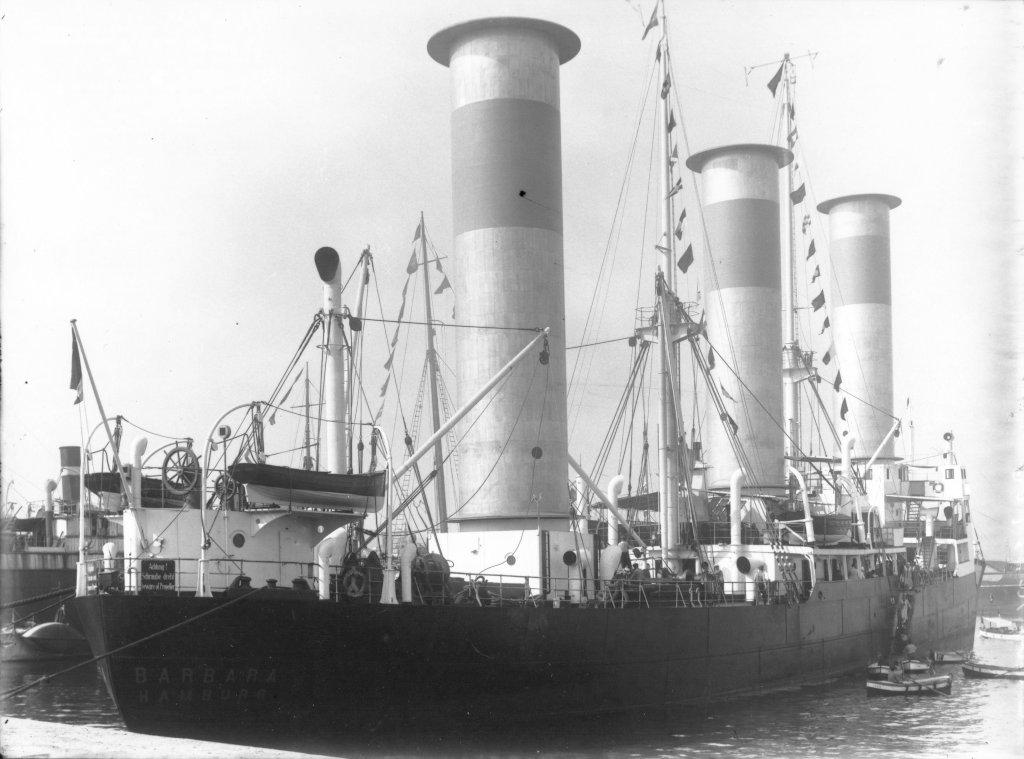 """Корабът """"Barbara"""" с три ротора на Флетнер"""