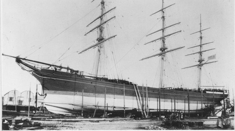 """Корабът """"Капунда"""" 1875"""